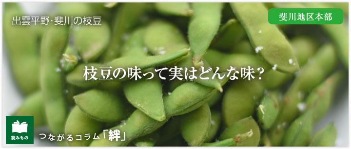 つながるコラム「絆」vol.10 枝豆の味って実はどんな味?