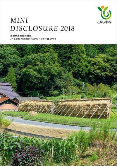 2018年版 中間期ディスクロージャー誌